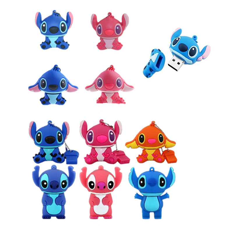 Lilo&Stitch Usb Flash Drive 32GB 16GB Pen Drive 4GB 8G Pendrive 2.0 Lovely Cartoon U Disk Memory Stick Usb Flash Stick Best Gift