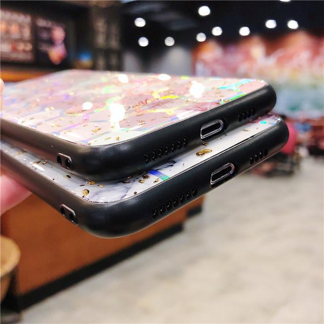 Funda de teléfono brillante a prueba de golpes para iPhone