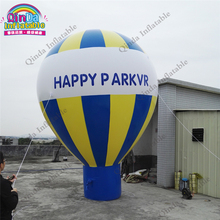 5m height inflatable heluim balloon for promotion,0.18mm PVC advertising toys Inflatable hot air balloon