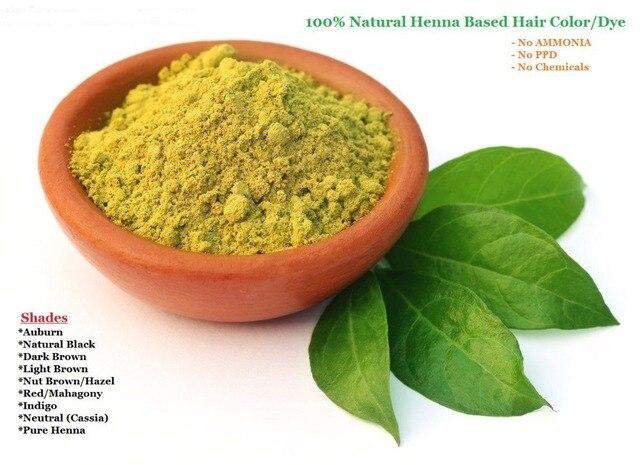 Orgánicos Polvo de Henna Natural Color de Pelo Tinte Para El Cabello ...