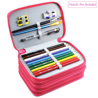 72 Holders 4 Layer Wareable Oxford Colored Pencil Bags Large Pencil Portable Watercolor Wrap Pencil Case