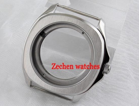 Parnis 40mm steel Sapphire watch case fit parnis mens watch fit Miyota 821A/8215,ETA 2836,DG2813 цена