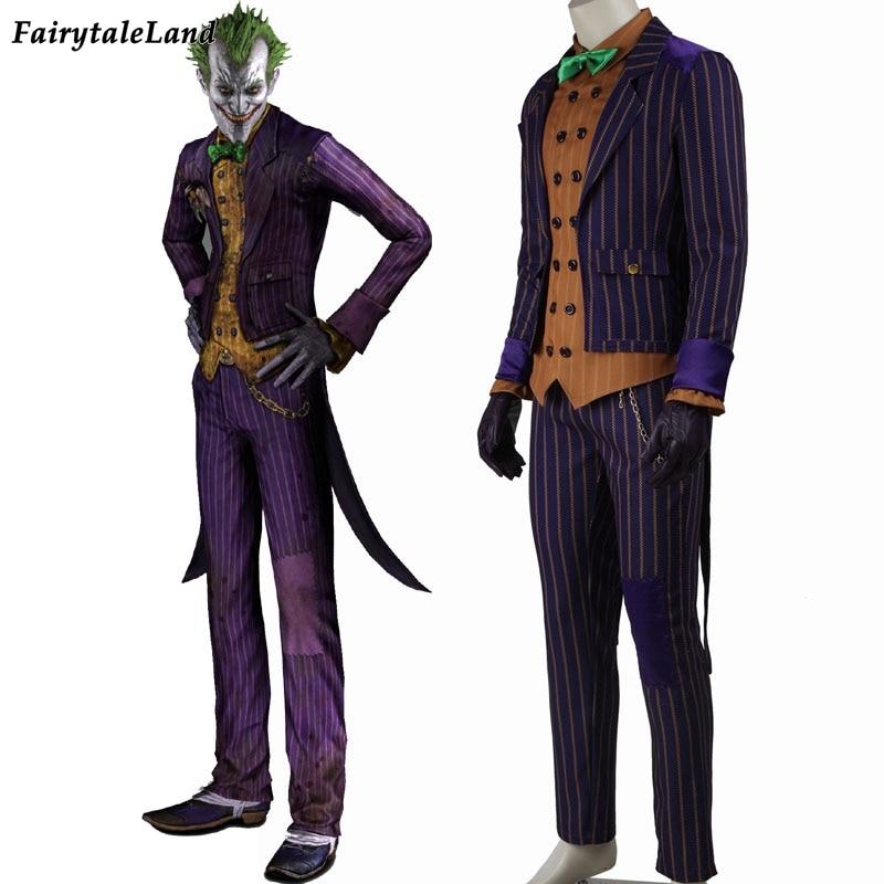 ultimo design colori armoniosi colore veloce US $106.88 |Batman Arkham Knight Joker cosplay costume di batman costume  adulto Carnevale Halloween costume cosplay Joker di Batman abito fatto su  ...