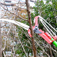 Aluminum head gardening high altitude scissors garden tools (scissors + saw +rope without rod )