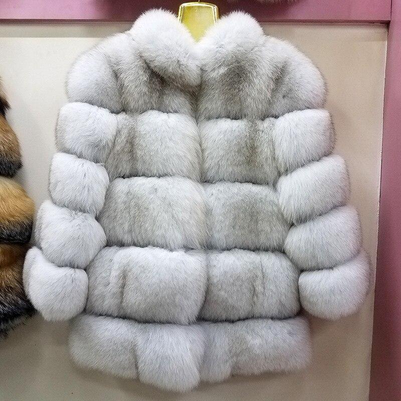 Top qualité français paires collections haut col montant naturel renard rouge manteaux de fourrure survêtement de luxe vestes de fourrure pour les femmes