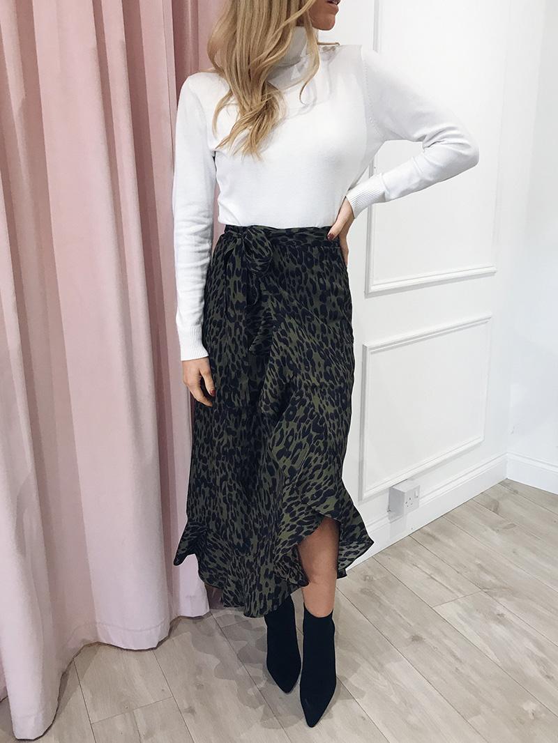 Hot Sale 19 New Slim Fashion Casual Women Leopard Print Boho Wrap Over Aysmmetric Loose Skirt Summer High Waist Midi Skirts 10