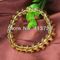 UMY Wholesale New Stylish Natural Citrine Round Beads Stone Bracelet Fashion Jewelry  8mm