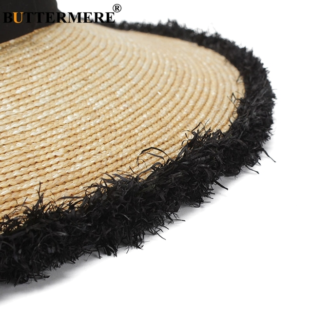 BUTTERMERE Women Sun Hats Beige Casual Straw Hat Female Wide Brim Anti-UV Ladies Summer Travel Sombreros Beach Caps Fashion 2018 3