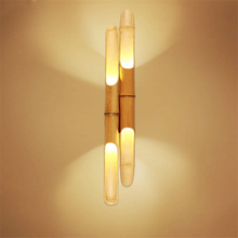 Chinese style wooden LED Loft wall lamp Vintage bedroom living room study lights Corridor decorative sconce lighting