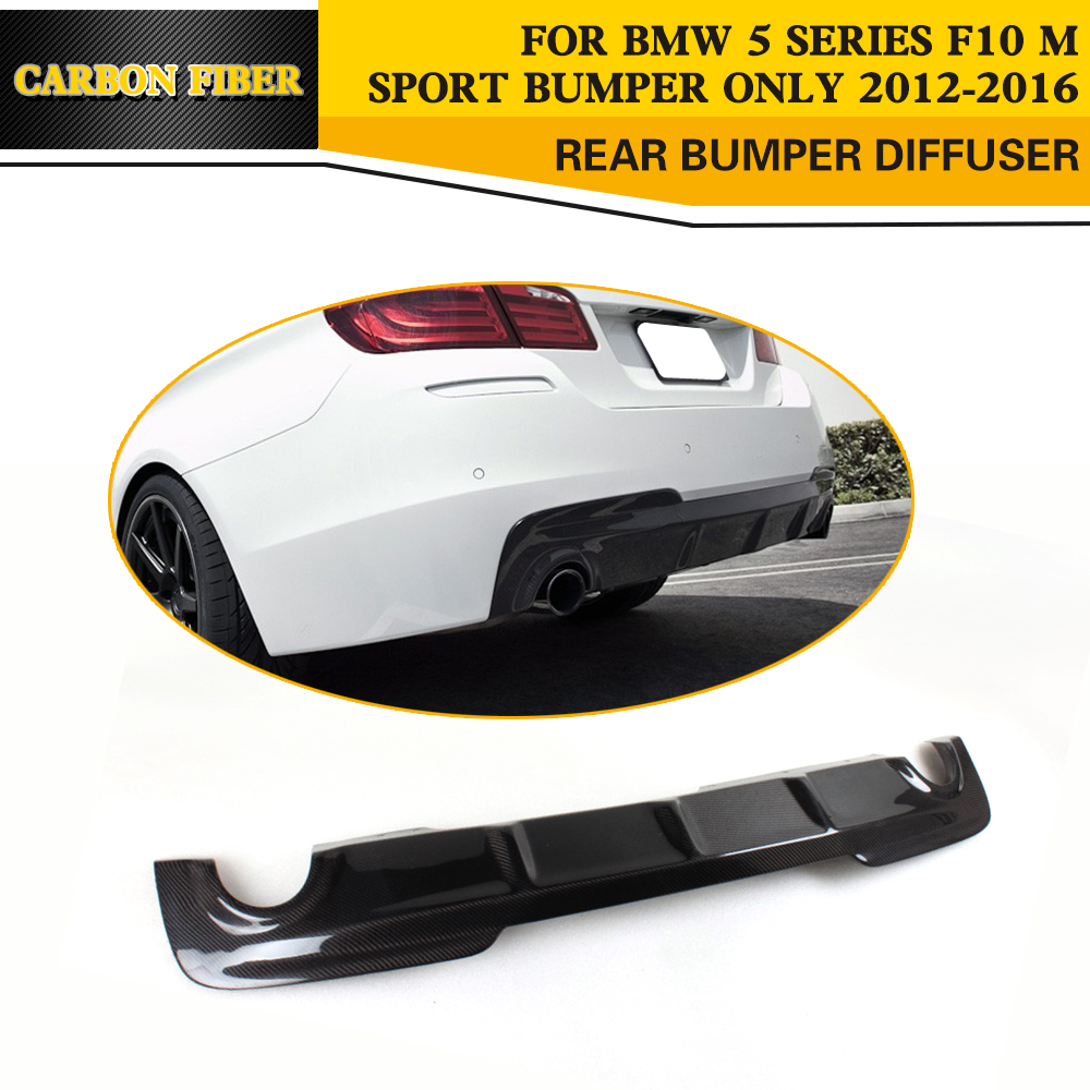 Serat Karbon Belakang Bibir Diffuser Untuk Bmw F10 M Sport Bumper Spion F1 Carbon Craft Square Kaki Titaniun Getsubject Aeproduct