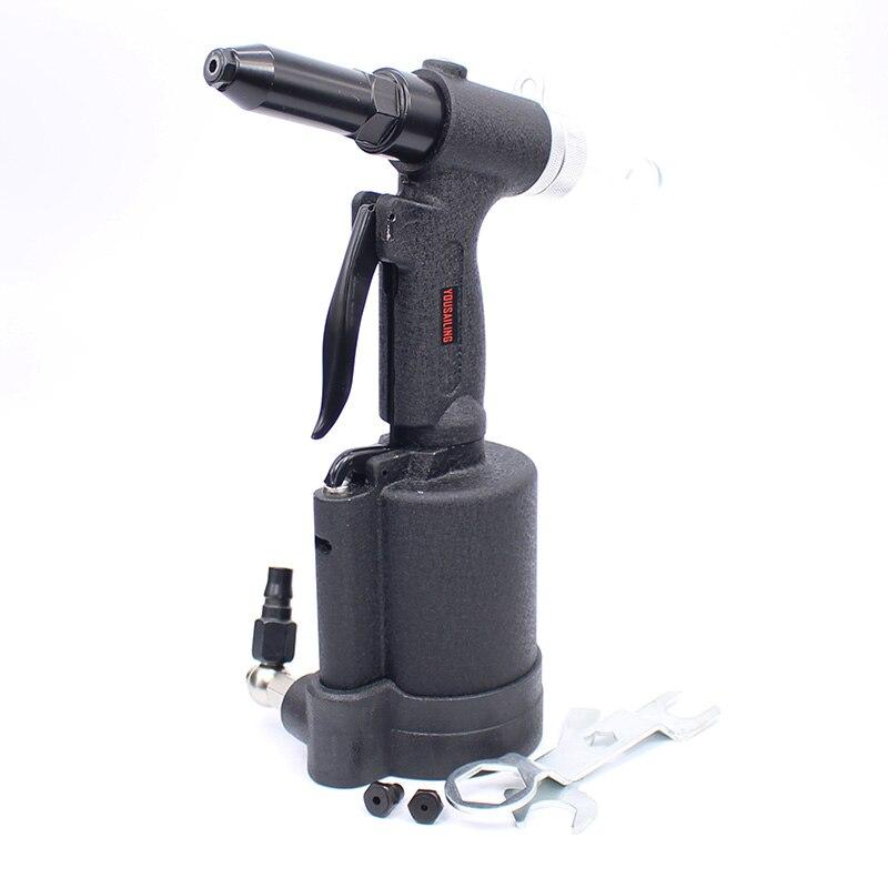 High Quality Powerful Industrial 3.2-6.4MM Pneumatic Riveter Air Hydraulic Rivets Nail Gun Strong Air Riveting Tools high quality a280 pneumatic riveter gun air hydraulic rivets tool 4 0 6 4mm