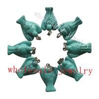 Min Order Is 10 10pcs Carved Blue Turquoise Angel Pendant Bead H11 23x15x6mm Send Randomly