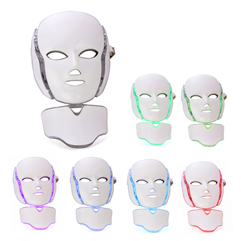 7 Color Photon LED Light Therapy Face Mask with Neck Mask Anti-Wrinkle Acne Removal Facial Skin Care Beauty Treatment Salon Home