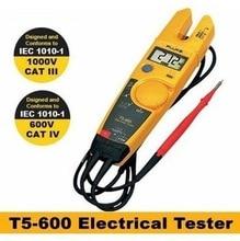 FLUKE T5-600 Pinza Amperimétrica Fluke T5 Tensión Continuidad Actual probador Eléctrico meter AC 600 V 1000 V Original
