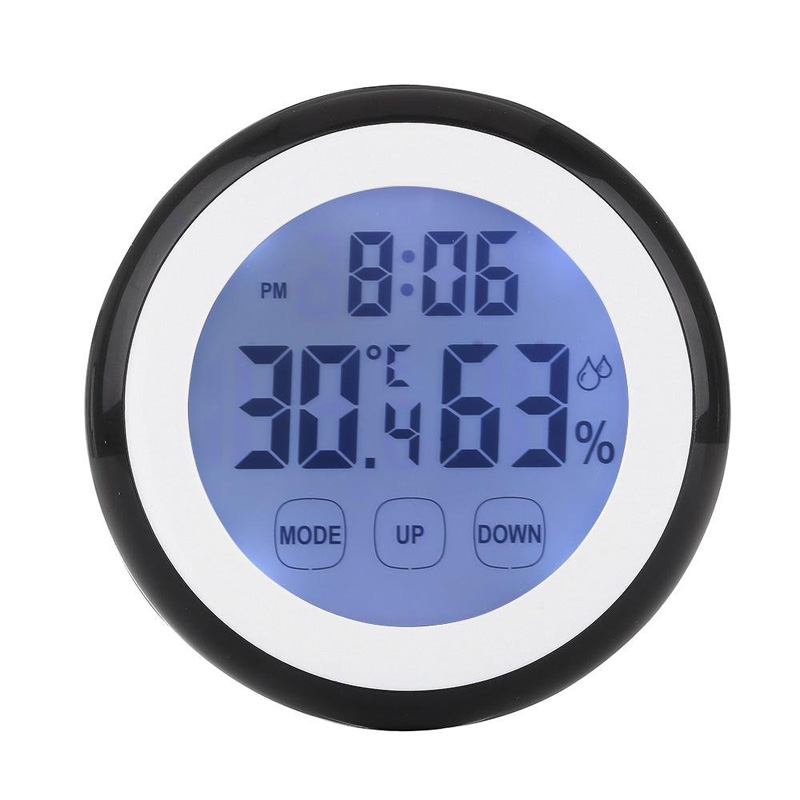 High Quality Touch Screen Thermometer Humidity Minitor Hygrometer Sensor with Alarm Clock --M25