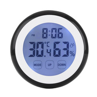 High Quality Touch Screen Thermometer Humidity Minitor Hygrometer Sensor With Alarm Clock M25