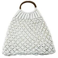 Braided Bag Summer Fashion Natural WomenS Hand Beach Outdoor Travel Handmade Totes Handbag Woven Storage Bags