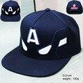 2017 фильм аксессуары хип поп шляпу аниме Капитан Америка черная шапочка девушки мальчик бейсбол шляпы друг подарки CA276