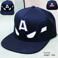 2017 movie accessories hip pop hat anime Captain America black cap girls boy baseball hat friend gifts CA276