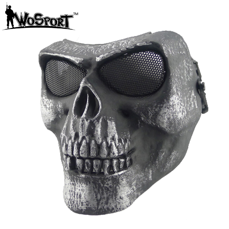 Al aire libre Caza CS wargame máscara de Halloween Ghost full Cara del hueso del cráneo airsoft paintball máscara