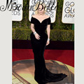 Lady Gala 2016 Famous 73rd Annual Golden Globe Award Celebrity Dresses Red Carpet Long Black Velvet Evening Gown Short Sleeve