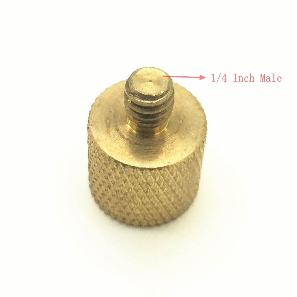 3//8Female to 1//4 Male Brass Tripod Adapter Screw for Camera Light Bracket Brass Tripod Adapter Screw