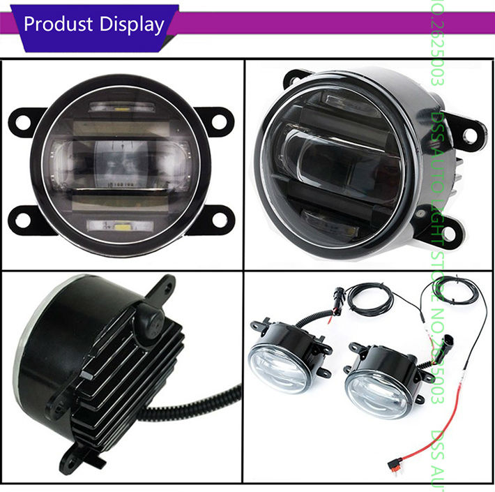 Universal 3.5inch 90mm Round LED Fog Light Daytime Running Lamp LED Chips 2 in 1 Fog Lamp DRL Lightings with Lens for Suzuki SX4 Sedan Swift Grand Vitara Alto Jimny Ertiga Celerio Wagon R