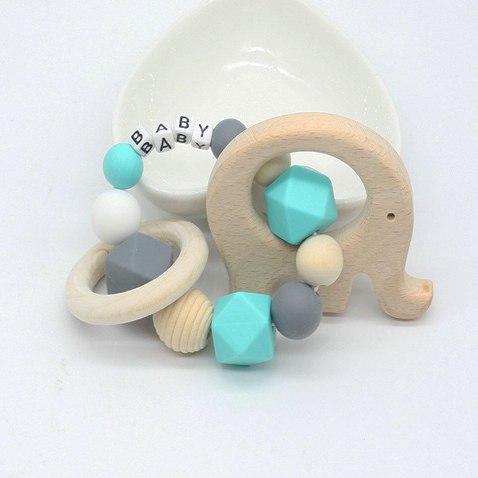 Us 379 22 Offpersonalisierte Name Kinderkrankheiten Ring Holz Vogel Beißring Baby Geschenk Wählen Ihre Farbe Kinderkrankheiten Spielzeug Baby