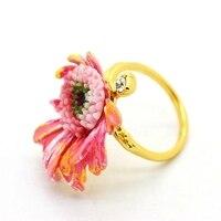ليه nereides حجم 7 حديقة نمط الوردي زهرة خواتم عالية الجودة الفاخرة رومانسية أنيقة خمر النساء والمجوهرات بالجملة