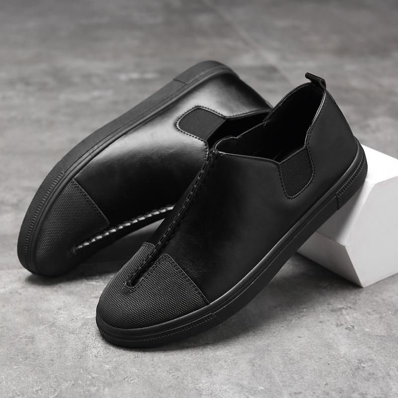 수제 남자 신발 고품질의 가죽 캐주얼 운전 - 남성용 신발 - 사진 5