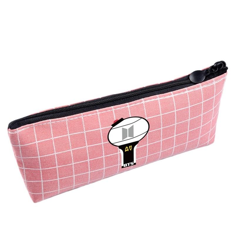 Canvas Pencil Case For Girl Fashion Blackpink Seventeen Gift Kawaii Pencil Bag School Cute Pencil Box Pencilcase Office Supplies