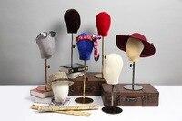 Красочный стиль модная шляпа голова манекен фланелетная голова формирующий зубчатый рельс для дисплея