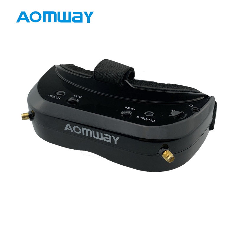 AOMWAY Commander V1S Diversity 3D HDMI Built-in DVR Fan 5.8Ghz 64CH Support Head Tracking FPV Goggles For RC Quadcopter