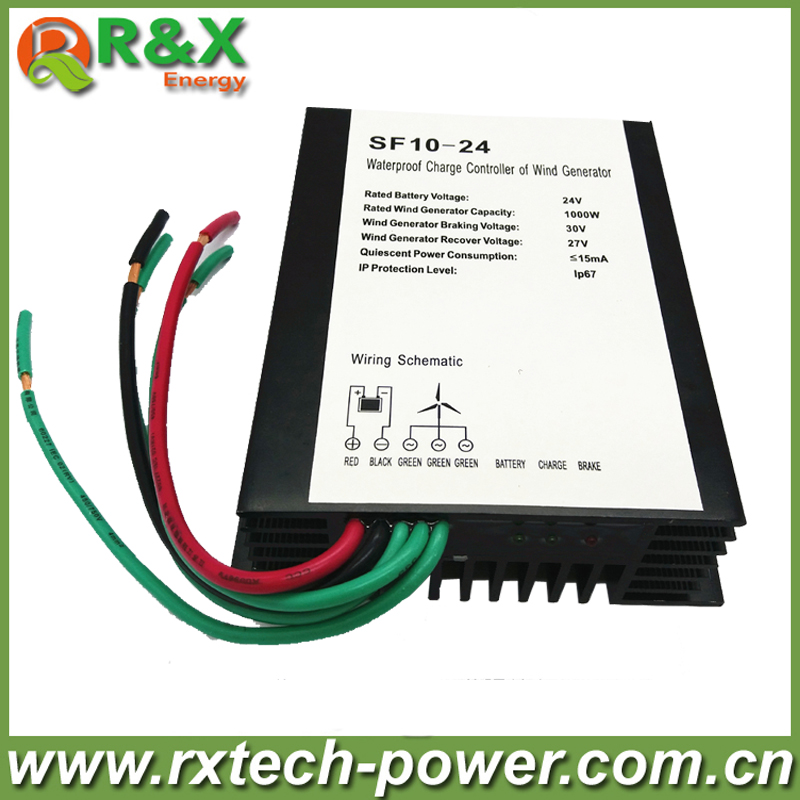 1000W wind turbine charge controller 24V/48V optional, waterproof wind turbine regulator factory price