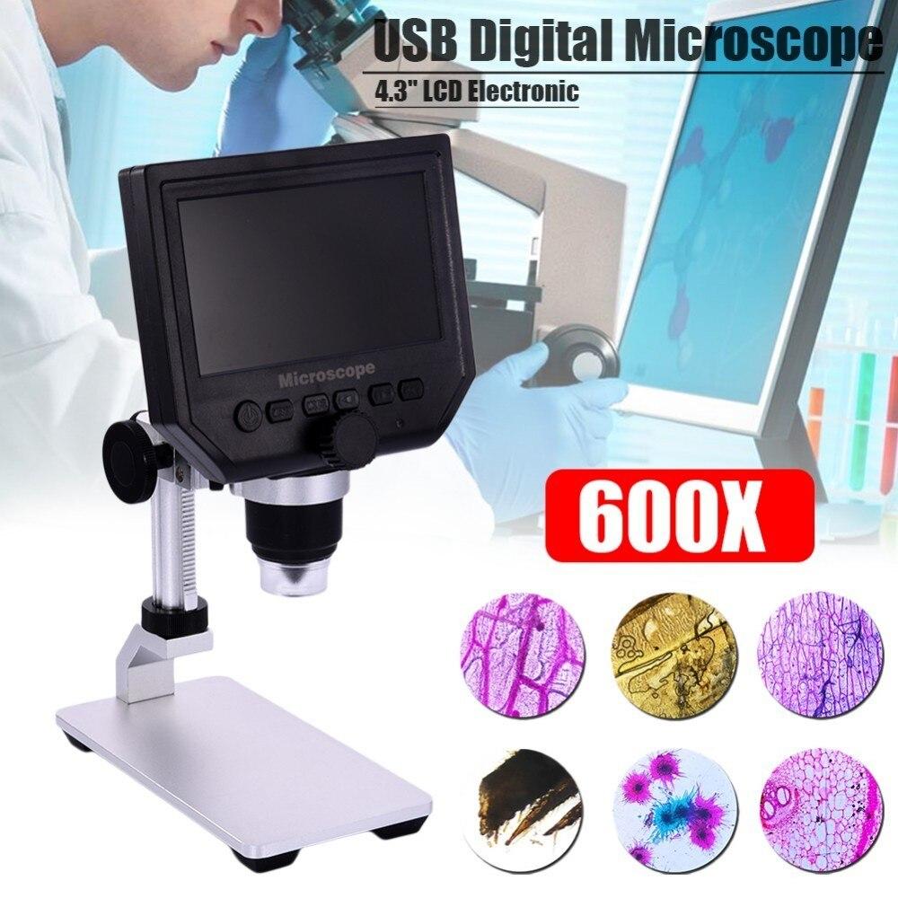 600X3.6 MP USB Dijital Mikroskop 4.3 Ekran LCD Elektronik HD Video Mikroskop Seti600X3.6 MP USB Dijital Mikroskop 4.3 Ekran LCD Elektronik HD Video Mikroskop Seti