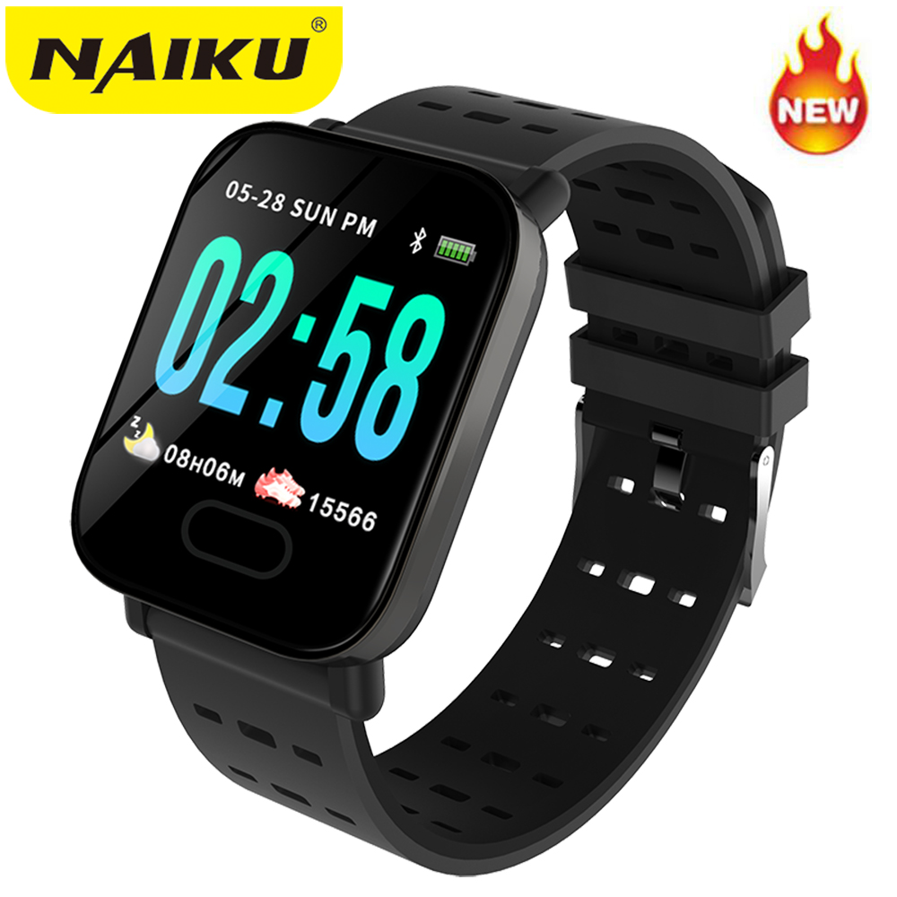 NAIKU A6 Smart Watch Heart Rate Monitor Sport Fitness Tracker Blood Pressure Call Reminder Men Watch For IOS Android Gift