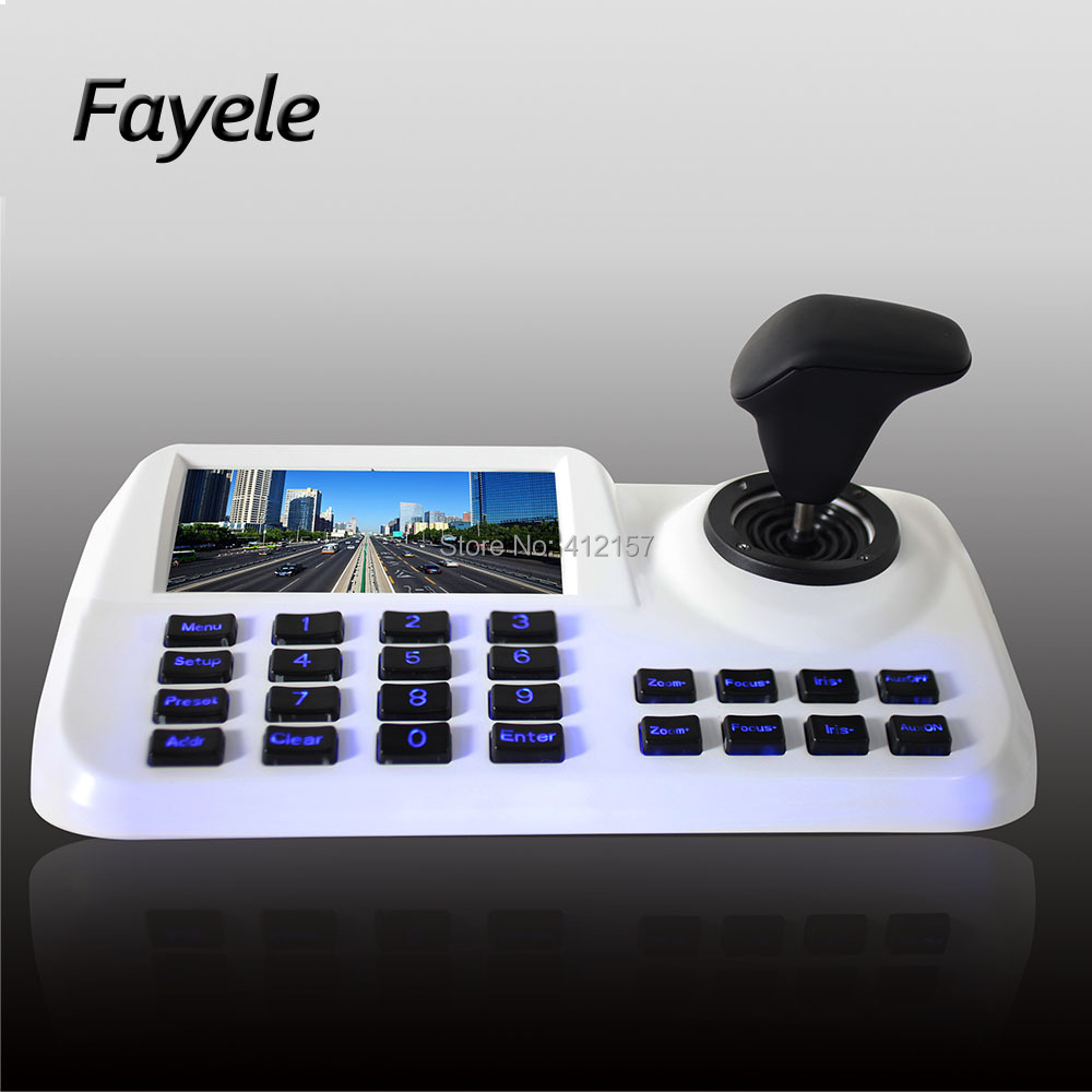 Security H.265 3D 3Axis IP PTZ Camera Keyboard Joystick Surveillance IP Network Keyboard Controller 5 LCD Screen HDMI USB ONVIFSecurity H.265 3D 3Axis IP PTZ Camera Keyboard Joystick Surveillance IP Network Keyboard Controller 5 LCD Screen HDMI USB ONVIF