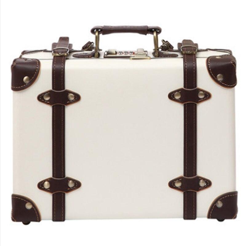 2018 NUOVA mano comò Cosmetici valigia caso retro in pelle geniune di alta qualità di trasporto libero
