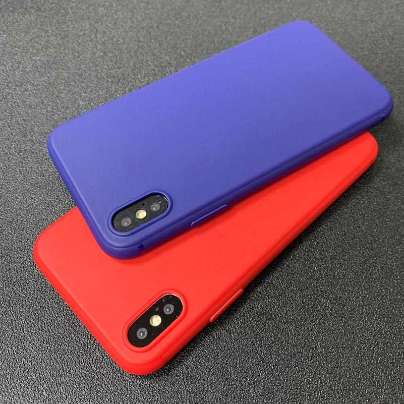 Anti-Fingerprint Cover For iPhone 7 Case Matte Candy Color Silicone TPU Case for iPhone XS Case XR X Max 7 8 Plus 6 6s X 5 5s SE