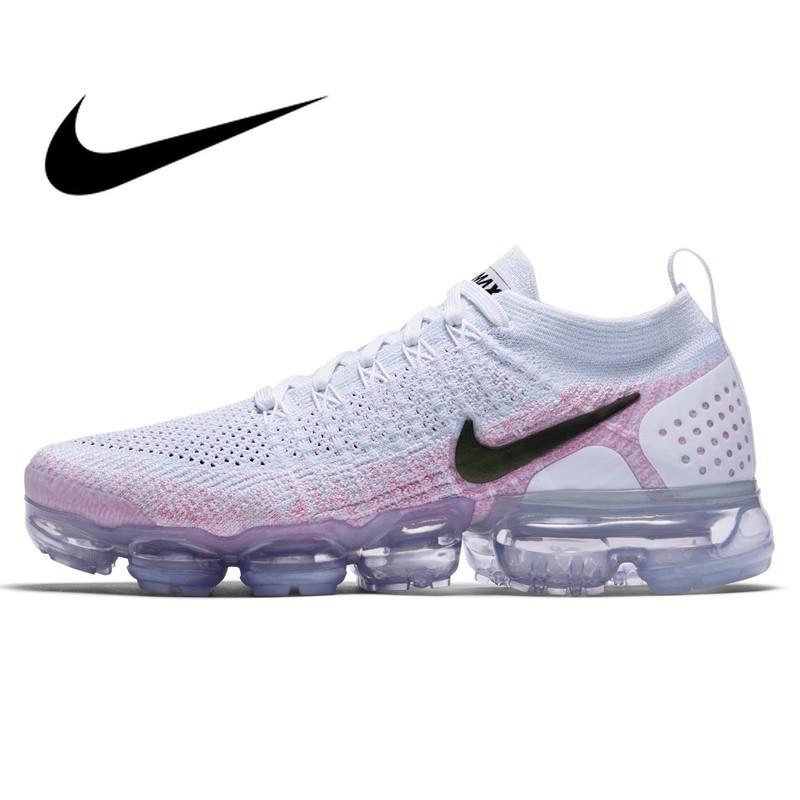 Officiel D'origine NIKE Air Max Vapormax Flyknit Chaussures de Course des Femmes Sneakers low top Toute la Paume Rembourrage Respirant 942843