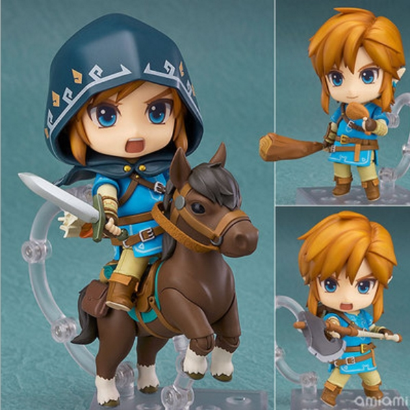 Anime Game The Legend of Zelda Link Nendoroid Breath of the Wild 733#DX Horse Ver Cute Action Figures PVC Doll box packing