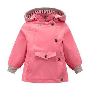 Image 4 - Abrigos y abrigos cálidos a prueba de viento y lluvia para niñas, chaquetas a prueba de viento con cuello para niños, chaqueta informal para exteriores para niños, Primavera