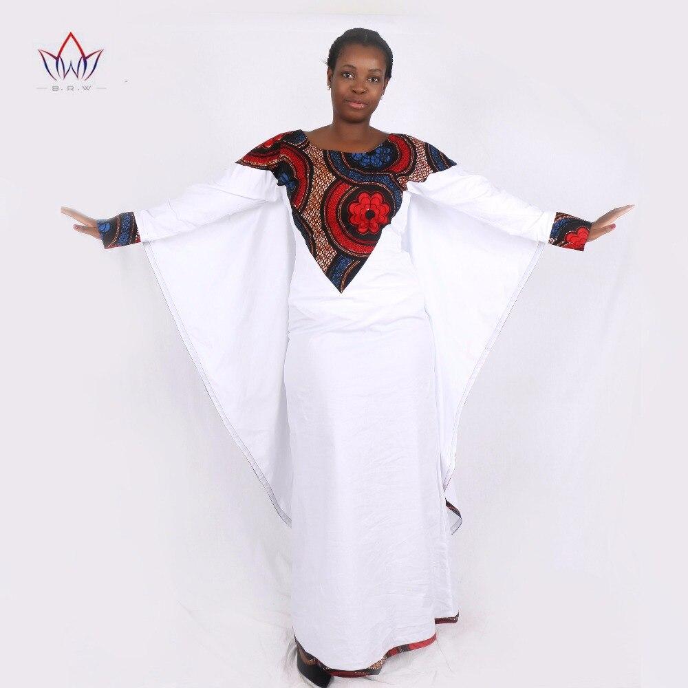 African Dresses for Women Long Sleeve Slip Party Dresses Plus Size Bazin Riche 6XL Dashiki Print