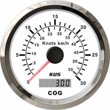 Neue 85mm KUS GPS Tacho 0 30knots Geschwindigkeit Mileometer 0 55 km/h Für Boot Schiff Yacht Mit Antenne