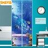 SMAVIA Underwater World Summer Anti Mosquito Door Curtain Polyester Fiber Durable Encryption Mosquito Net Design Easy