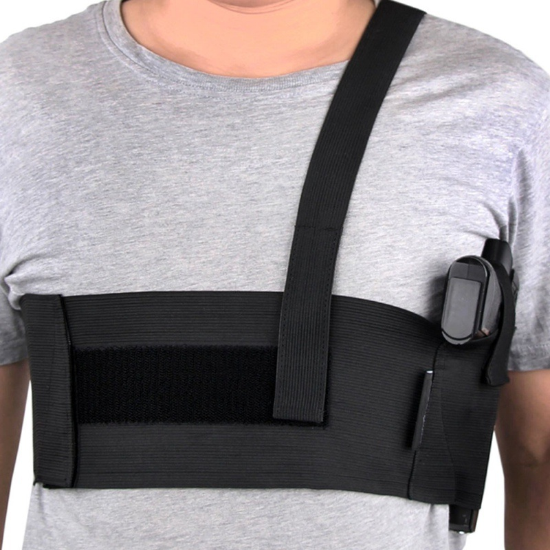 Durable And Flexible Tactical Adjustable Belly Band Waist Pistol Gun Holster Belt Girdle