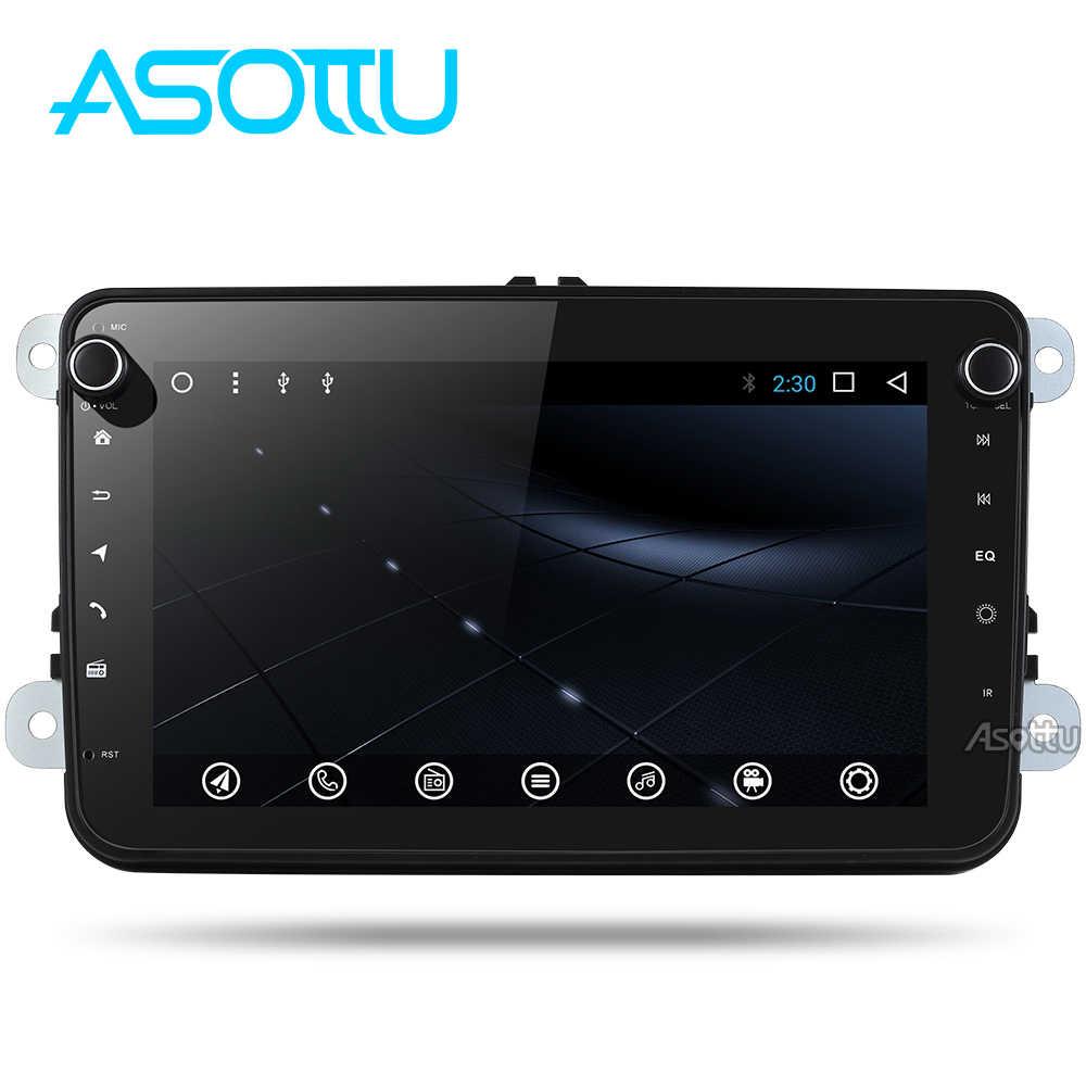 Asottu CDZ8060 アンドロイド 8.1 カー dvd gps フォルクスワーゲンティグアンパサート 2 din gps プレーヤーカーステレオ