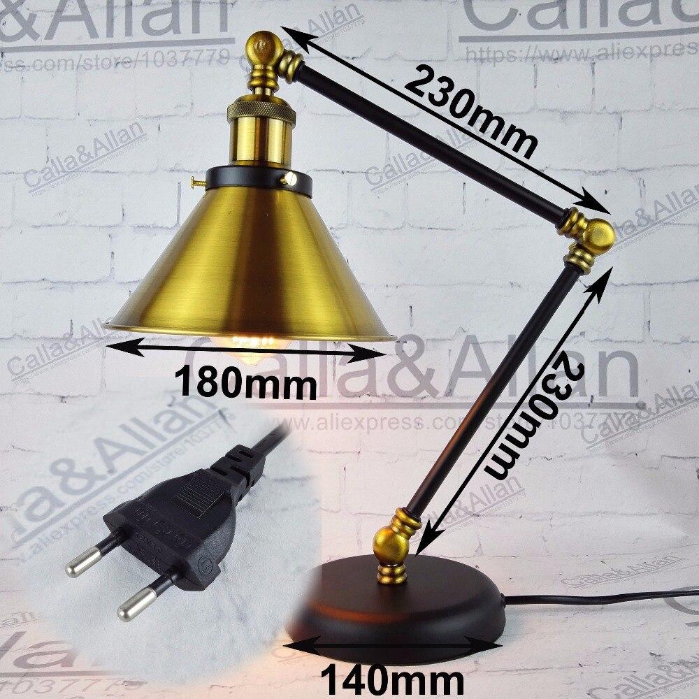 EDISON ЛАМПЫ 60 Вт собраны бронза железо Таблица освещения с выключателем и вилка ul/ce качество рядом лампы для кабинет отель Декор
