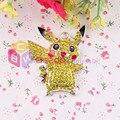 Free Shipping 10pcs/lot Rhinestone Pikachu Pendant Pokerman Pendant For Cartoon Theme Jewelry