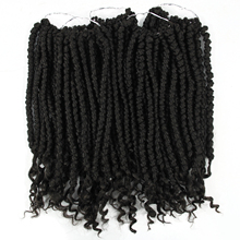Kinky Curly Crochet Hair Braid 14inch 12 roots/pack 55g Ombr